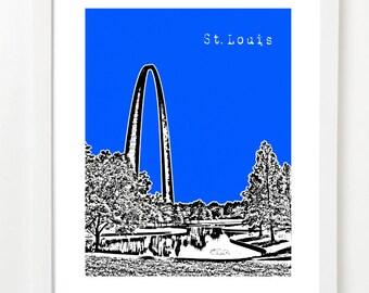 St. Louis Art Print - St. Louis Missouri Skyline Poster - Gateway Arch - VERSION 4