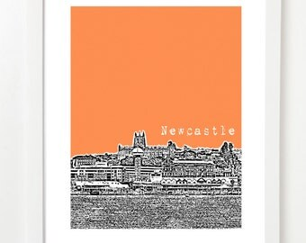 Newcastle Australia Skyline Art - Newcastle City Skyline Series Poster -