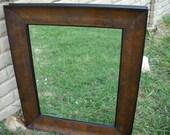 26.5 x 22.5 Wooden Framed Mirror