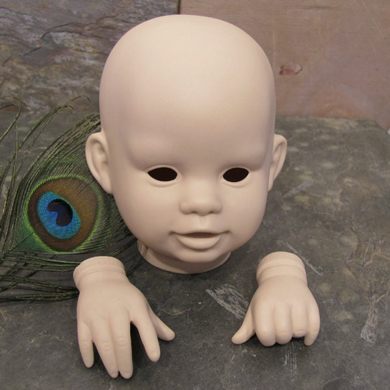 """Boots Tyner """"Patches"""" 1987 Head and Hands Doll Parts Vintage Reproduction"""