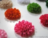 CLEARANCE - Mini Ruched Rosettes - YOUR CHOICE of 21 Colors - Wholesale Boutique Supplies - You Choose the Quantity - Wholesale Discounts!!