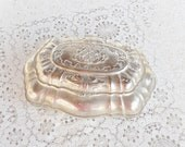 Shabby Chic / Romantic Cottage Silverplate Jewelry Box - RosebudsOriginals
