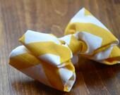 JUMBO Yellow Chevron Pet Bow Tie