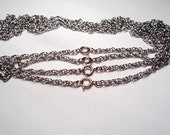 4 pcs. - Stainless steel rope style 24'' Neckchain - m217
