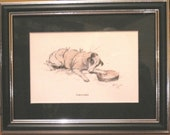 FRAMED SIGNED Mounted 1930s Cecil Aldin Paralysed Fox terrier dog plate/print Unique Christmas Thanksgiving dog lover Vet surgery gift