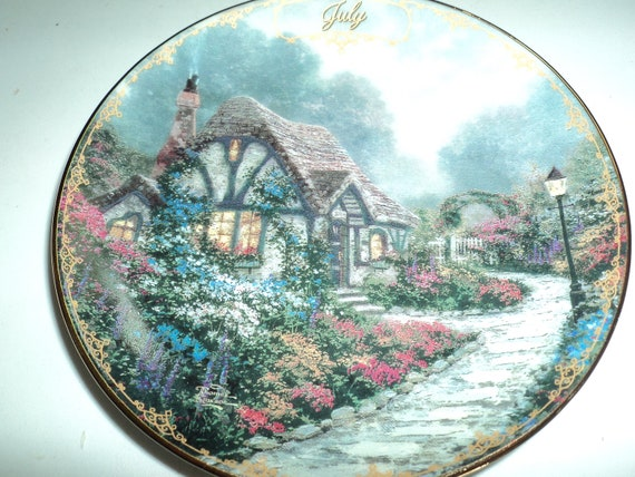 Plate by Thomas Kincade - July, August, September, October, and November  Sale