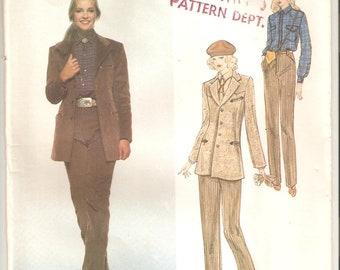 UNCUT Vogue Sewing Pattern 2077, design by Ralph Lauren, Sz 14, 1980s
