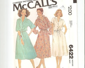 Vintage UNCUT McCall's Sewing Pattern for Dress, Sz 14, 1970s