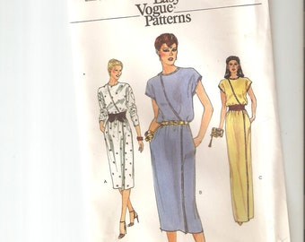 Vintage UNCUT Vogue Sewing Pattern 7581 for Dress, Sz 14, 1970s