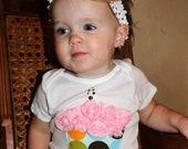 1st  birthday onesie cupcake