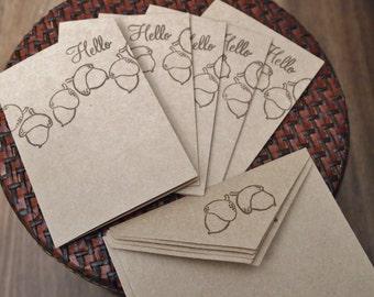 Acorn Note Card Set (6)