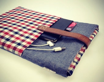 """Laptop 14 inch case, laptop sleeve cover, laptop bag with front pocket - """"Business"""""""