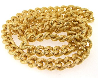 """Shiny Cut Dot Gold Plated Metalic Aluminium Chunky Curb Chain ----- 14mmx 18mm---thickness about 4mm----38"""""""