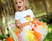HALLOWEEN Candy Corn Got Candy Baby to Toddler Tutu Skirt Costume in All Sizes for Little Girls - Custom Made To Order 1 2 3 4 Year