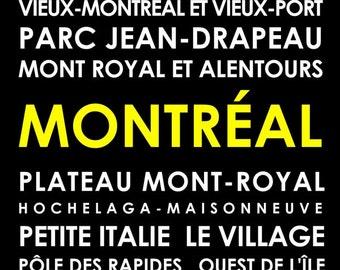 Montreal subway poster, customize your own