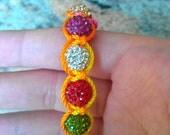 Rainbow Shamballa Bracelet