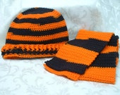 Cinncinati Bengals/Oregon State University Beavers Hat and Scarf Set