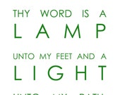 8x10 Thy Word is a Lamp unto my feet and a Light unto my path / Mounted Artwork