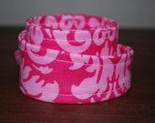 Fabric Headwrap, Headband, head wrap, hair, covering, pink, damask