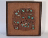 Clyde Kelly Ceramic Wall Panel Abstract Mid Century Modern California Design Craftsman Sculpture
