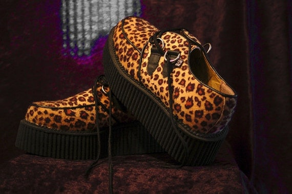 RESERVED for trulyfabulous01 only. Cheetah/ Leopard Print Creepers US Sz. 8womens/ 5 mens