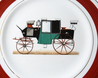 Imperial Salem China -Automobile Carriage Dinner Plate