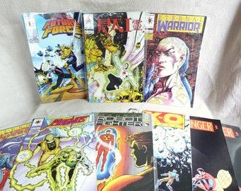 Valiant Comics - Vintage Comic Books - Harbinger - XO Manowar - Rai Future Force - Lot of 9 Comics