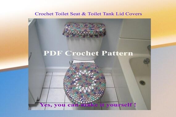 Items similar to Set of 2 Crochet Patterns - Toilet Seat