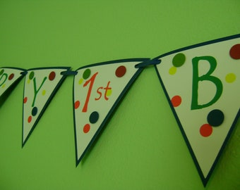 Ball Themed Happy Birthday Pennant Banner