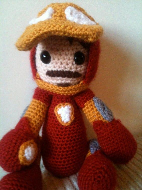 Iron Man Amigurumi Free Pattern : Avengers Iron Man crochet amigurumi doll by JustAddAwesome ...