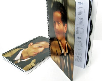 Castiel 2017 Daily Planner Supernatural Calendar UpCycled Misha Collins Cas Angel