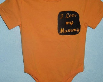 Halloween baby embroidered onsie