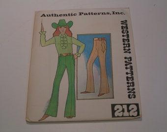 Vintage Authentic Pattern Western 212 Ladies Pants
