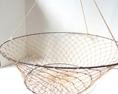 Industrial Country Chic Woven Hanging Basket