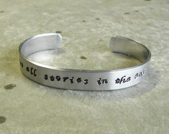 Hand Stamped Bracelet Dr. Who We're all stories in the end