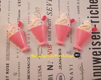 Flatback Ice-Cream Sundae Cup 2 pc