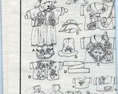Jana Beus Bear and Clothing Patterns 31 inch Cloth Bear Simplicity 7606