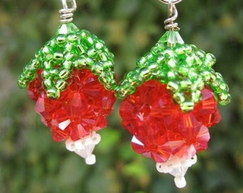 Luna Lovegood Beaded Radish Earrings