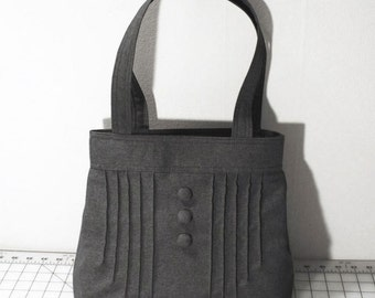 Customizable Pintuck Purse with Buttons -- Choose Your Color