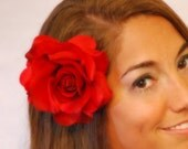 Perfect Red Hair Flower Clip
