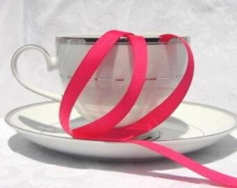 "Hot Pink Grosgrain Ribbon 3/8"" wide  - 3 yards"