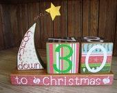 Christmas Countdown Blocks Bright