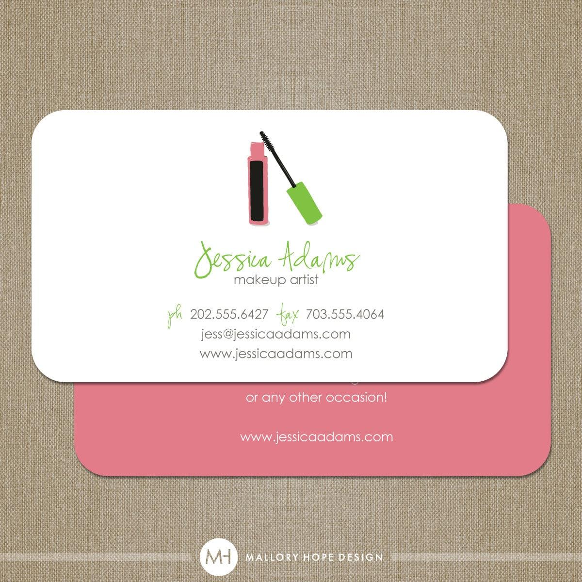 Unique Makeup Artist Business Cards Makeup artist or generalUnique Makeup Artist Business Cards