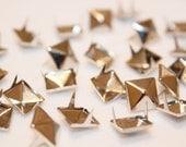 50pcs Silver Pyramid Spikes-Studs-9mm