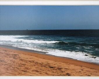 5 x 7 mated photo Sunset Beach, California, ocean, waves,