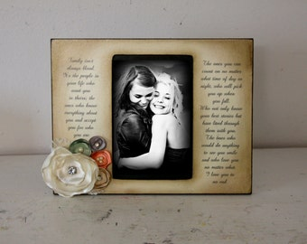 Friend Vintage Quote Saying Picture Frame Flower arrangement. 4x6 Keepsake
