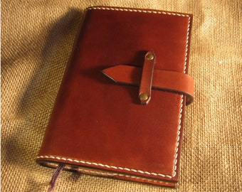 Refillable Leather Moleskine cover with Clasp, Notebook Cover