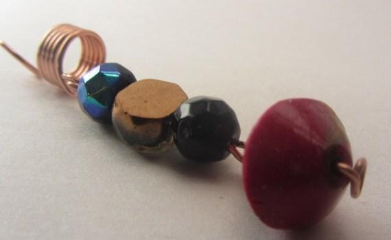 Dangle Glass Handmade Clay Beads Dread Locs Braids Twist Hair Jewelry Coils Dreadlock Beads Accessories