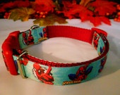 Spiderman Dog Collar, 1 in.(2.54 cm), adj., SR., on red webbing and red buckle, and glide.