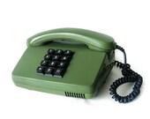 30% OFF - Siemens Green and black Vintage Telephone - Retro Phone Made in Germany - dark green and black keys